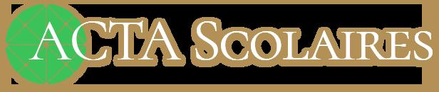 ACTA SCOLAIRES